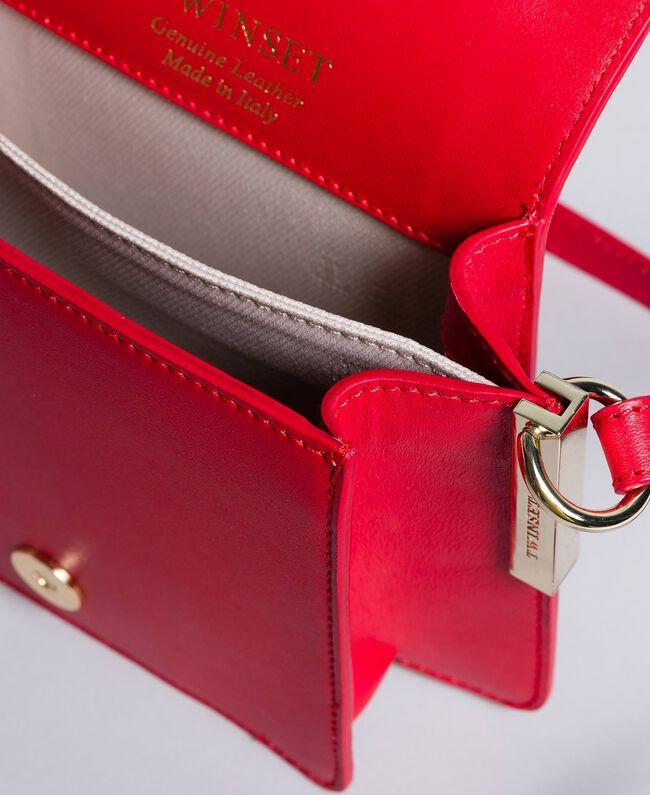 Sac à bandoulière en cuir Rouge Coquelicot Femme AA8PGB-04
