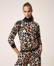 Jersey de cuello alto animal print Estampado Animal print Mujer 202LL3E00-02