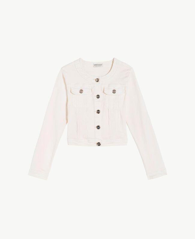 Mandarin collar jacket Pale Cream Child GS82CN-01