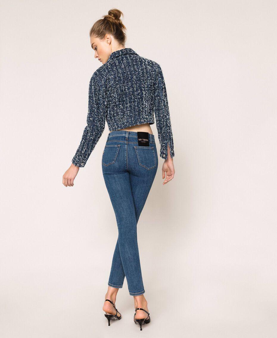 Five-pocket skinny jeans Denim Blue Woman 201MP2321-03