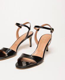 Sandales à talons en cuir Rose Bouton Femme 999TCT012-02