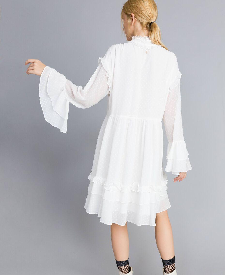 Kleid aus Fil Coupé Perlmutt Frau SA82GA-02