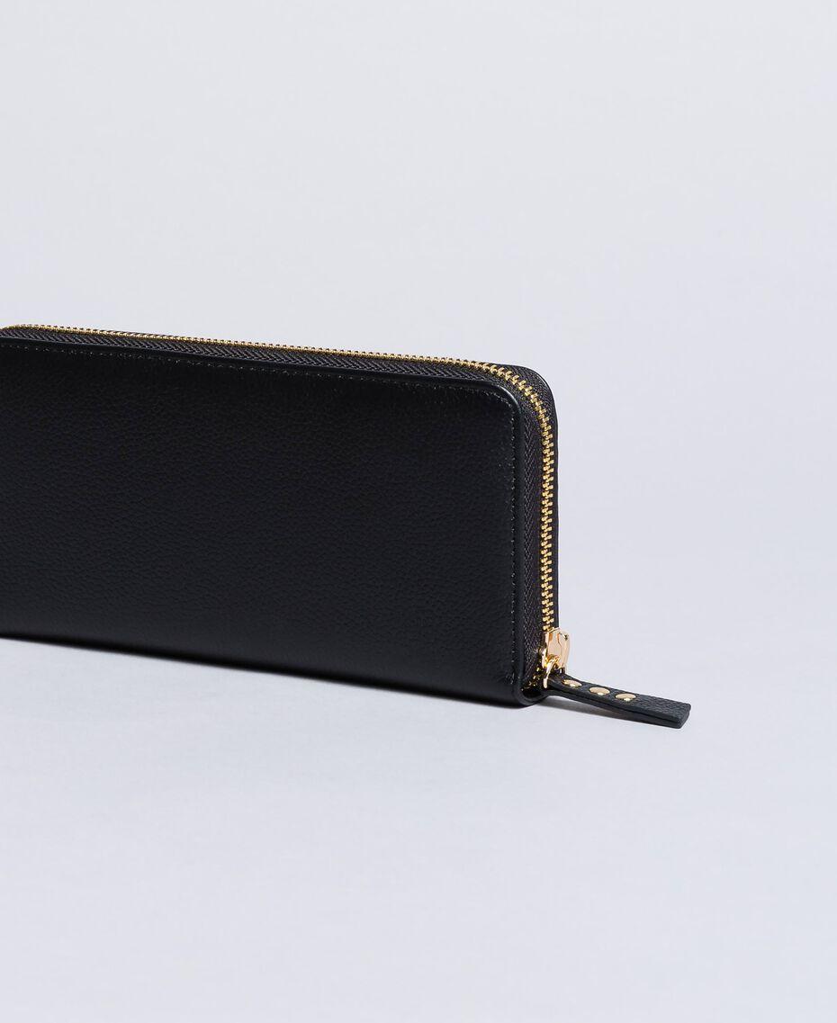 Portefeuille cuir Noir Femme OA8THA-02