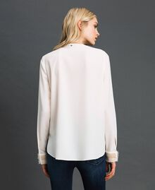 Blusa con ricami di perle Bianco Neve Donna 192TT2320-04