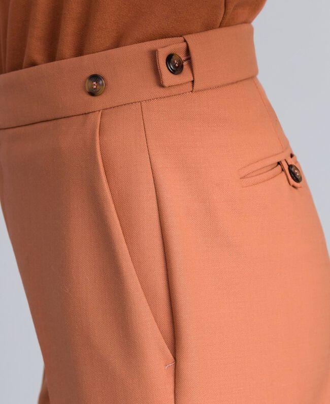 Pantalon en laine bi-stretch Marron Terre Femme TA827R-04