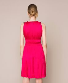 Pleated satin dress Wild Rose Woman 201MT2141-03