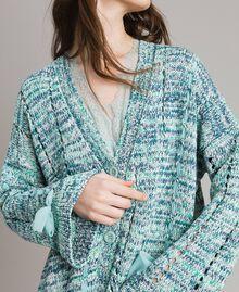 """Maxi cardigan avec rubans Multicolore Fantaisie Bleu """"Mikonos"""" Femme 191TP3280-05"""