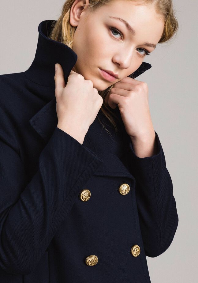 Wool double-breasted peacoat