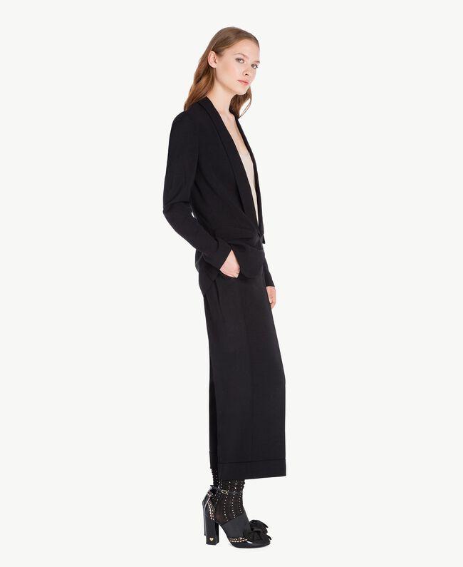 Pantalon cropped Noir Femelle PA72TB-01