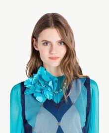 Collier ras-de-cou fleur Turquoise Femme AS8P72-02