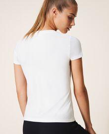 Camiseta con estampado Marfil Mujer 202LL2MCC-04