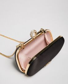 Satin clutch Black Woman 192TQ706A-05