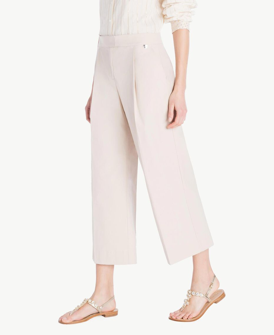 Poplin cropped trousers Dune Woman TS821U-02