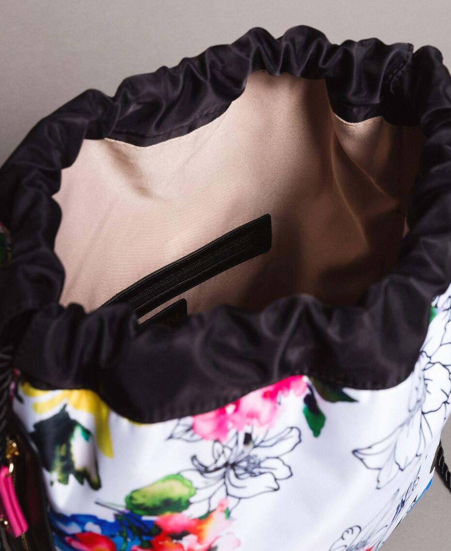 Rucksack mit Blumenmuster Fluoreszierendes Rosa Frau 191MO8061-06