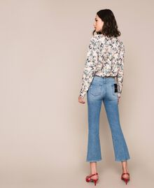 Flared jeans with studs Denim Blue Woman 201MP226A-04