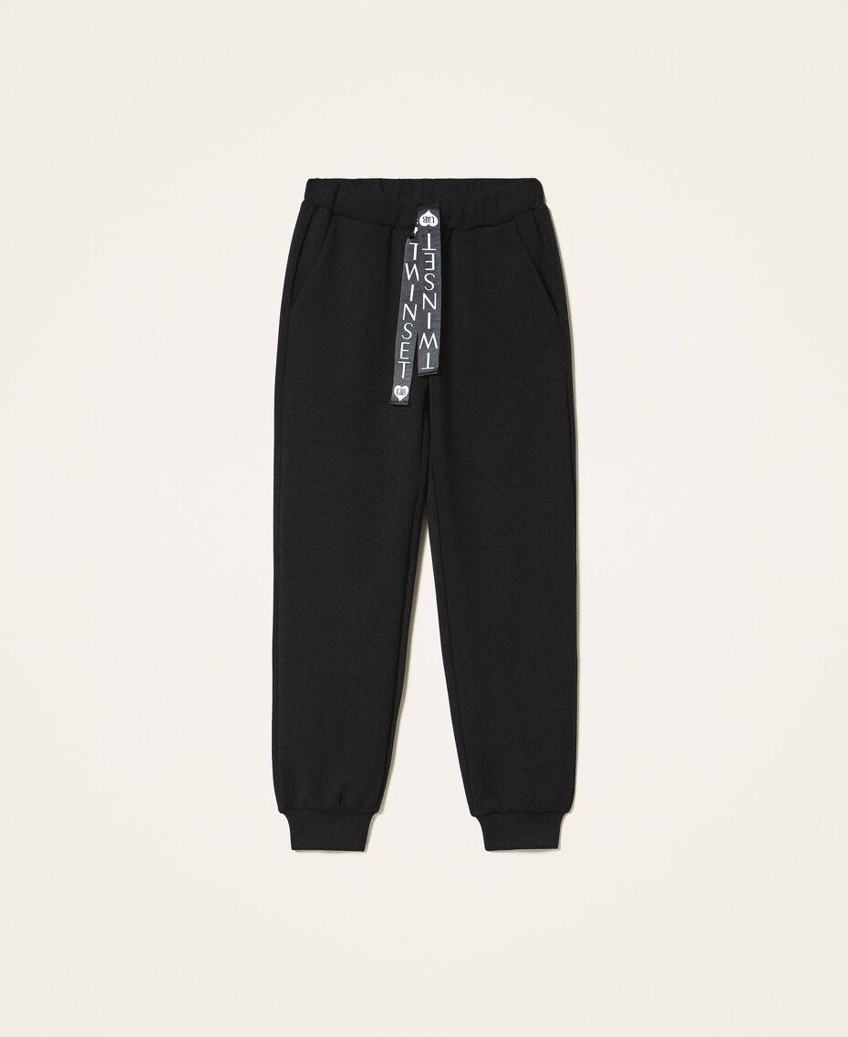 Pantalon de jogging en scuba Noir Femme 202LI2JNN-0S
