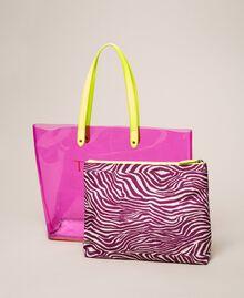 Beach bag with pochette Flirty Rose Multicolour Print Woman 201LB7GTT-04