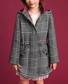 Houndstooth wool blend parka coat White / Black Houndstooth Child 192GJ2110-02