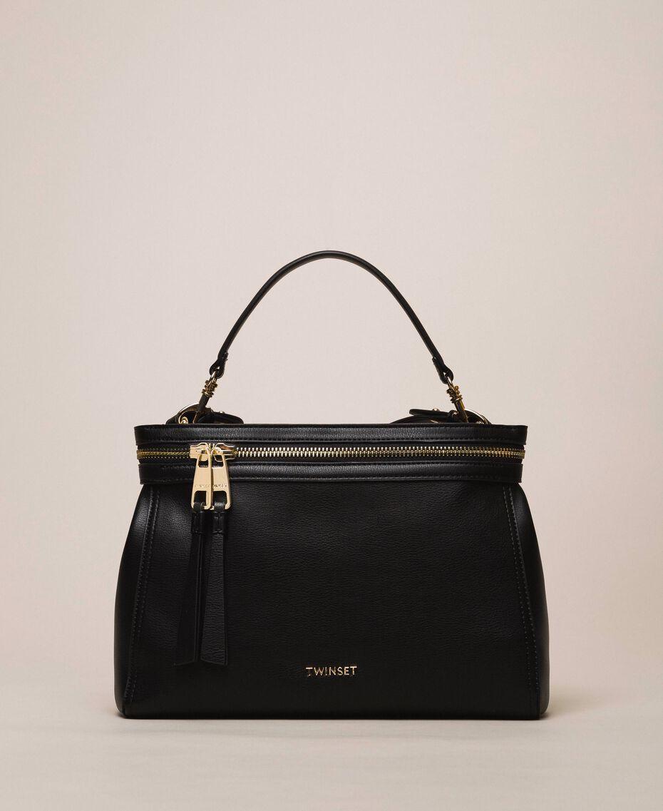 Large faux leather New Cécile bag Nougat Beige Woman 201TO8180-01
