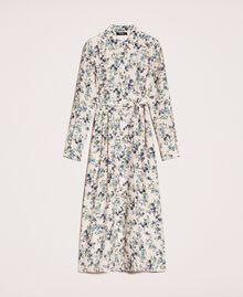 Robe chemisier longue florale Imprimé Floral Rose «Quartz» Femme 201MP2371-0S