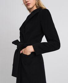 Manteau croisé en drap Beige «Camel Doré» Femme 999TT2030-05