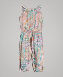 Viscose jumpsuit with paisley print Paisley Print Child 191GB2510-0S