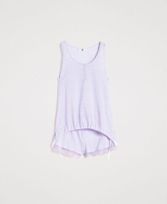 Pijama corto con cuadros de Vichy