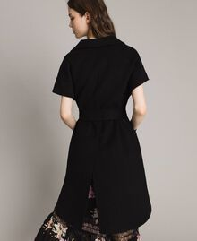 Double wool cloth waistcoat Black Woman 191TP2482-03