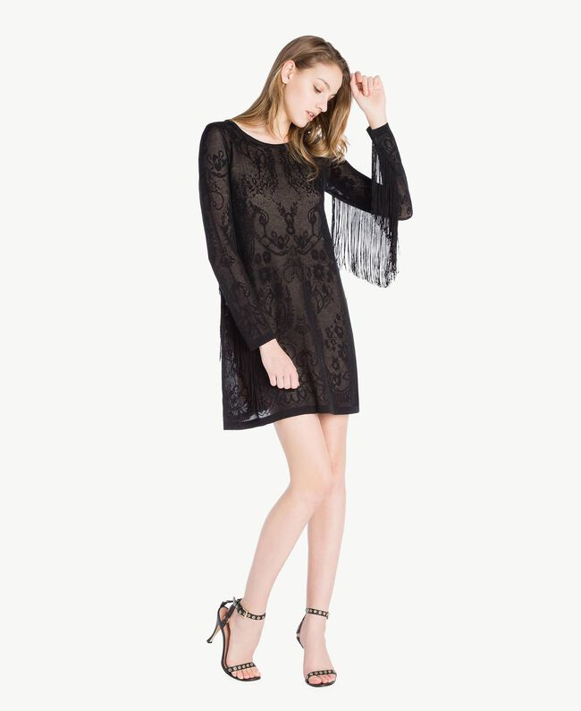 Tunique jacquard Noir Femme TS835A-01