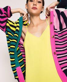Maxi cardigan with multicolour stripes Multicolour Woman 201ST3100-05