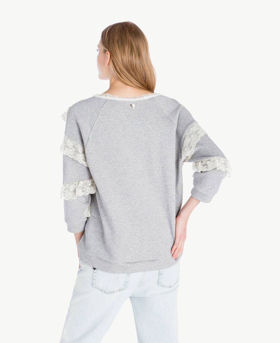 Sweat-shirt tulle Gris clair chiné Femme PS82UR-03