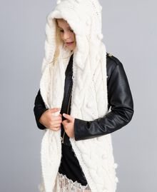 Hood-style scarf with pompom Off White Child GA8FA2-0T
