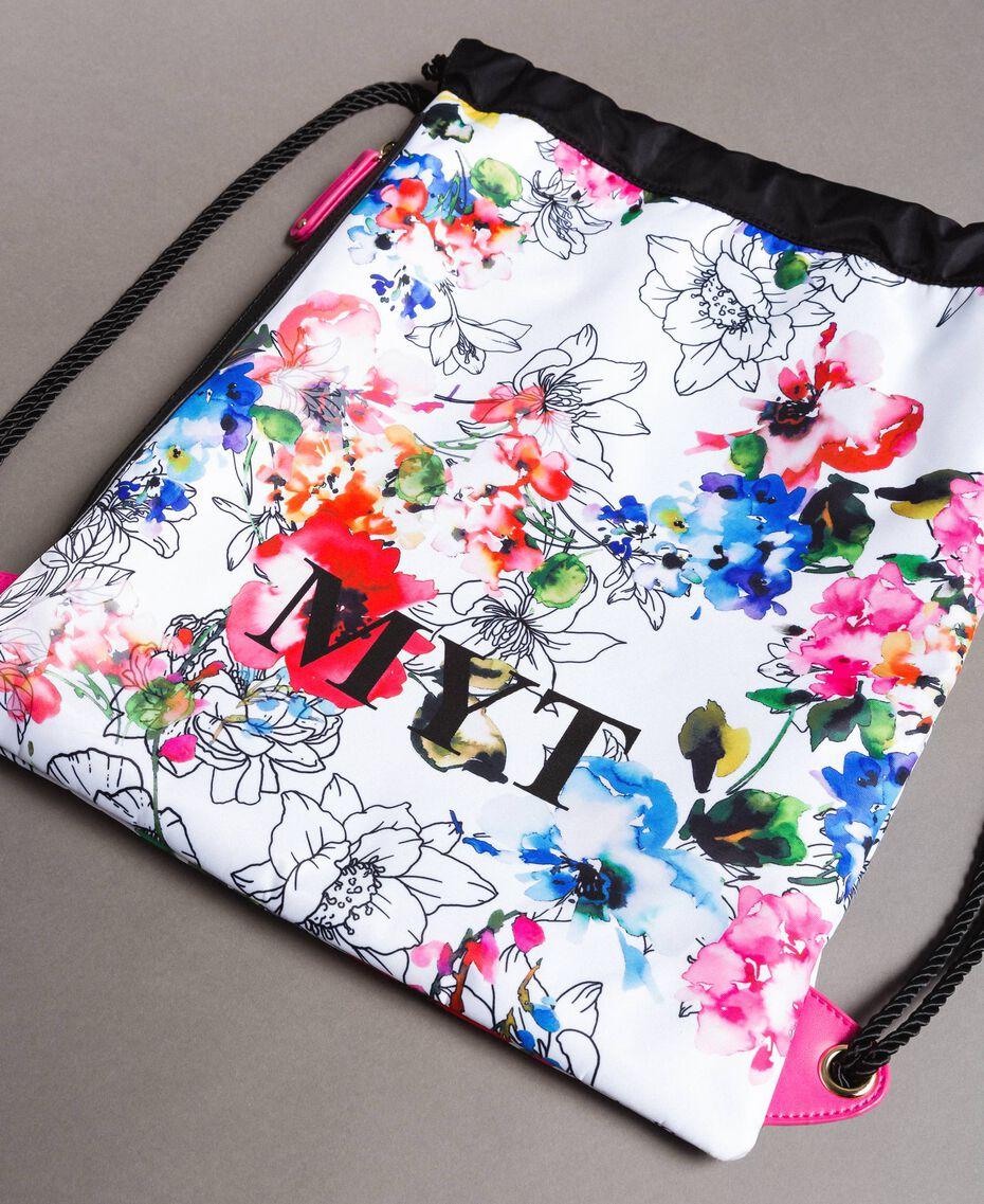 Rucksack mit Blumenmuster Fluoreszierendes Rosa Frau 191MO8061-02