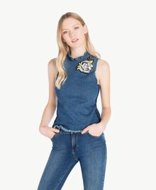Denim top Denim Blue Woman JS82T3-01