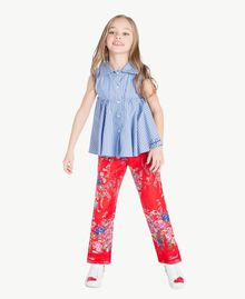 Flowers print trousers Flowers Print / Pomegranate Red Child GS82E2-05