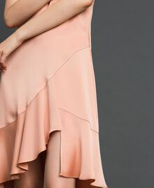 "Satin dress with asymmetric tailoring ""Nude Pink"" Woman 192TT2295-05"