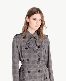 Check trench coat Jacquard Gingham Woman PS827N-04