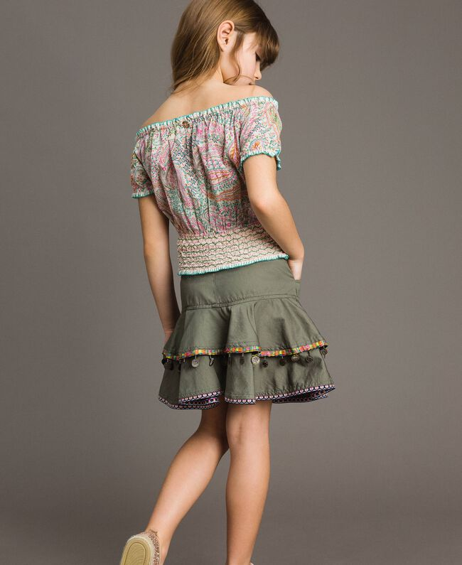 Muslin blouse with paisley print Paisley Print Child 191GJ2512-04
