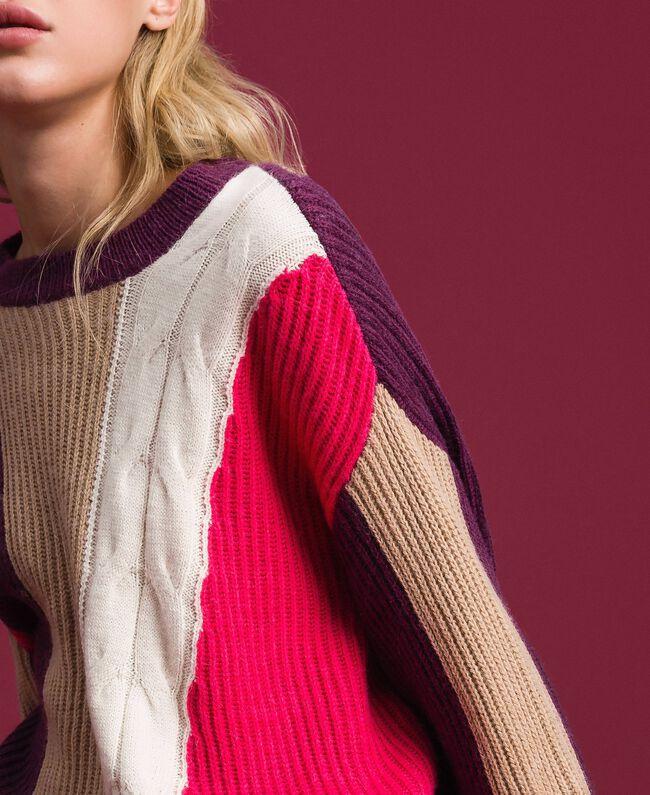 Pull en mélange de laine et alpaga Rose «Rose Brillant» Femme 192MT3074-04