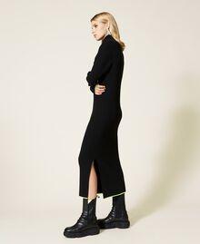 Robe longue côtelée Noir Femme 212AT3104-03