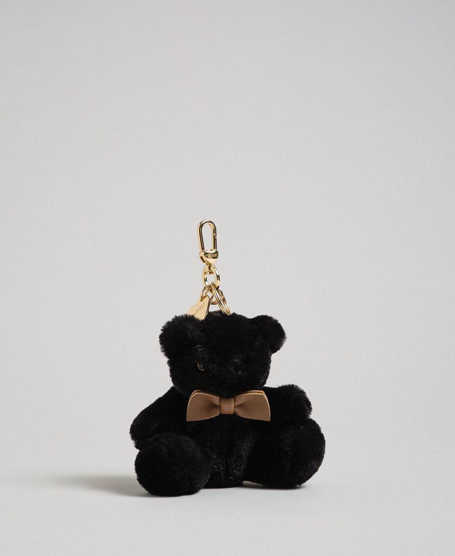 Faux fur teddy bear keyring Black Woman 192TO8203-01