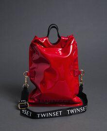 Маленькая складная сумка-шоппер из искусственной кожи Красный Гранат женщина 192TA7174-02