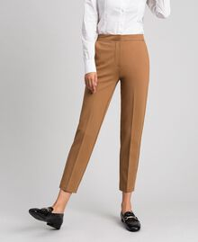 """Cigarette trousers with pockets """"Sequoia"""" Beige Woman 192ST2134-02"""