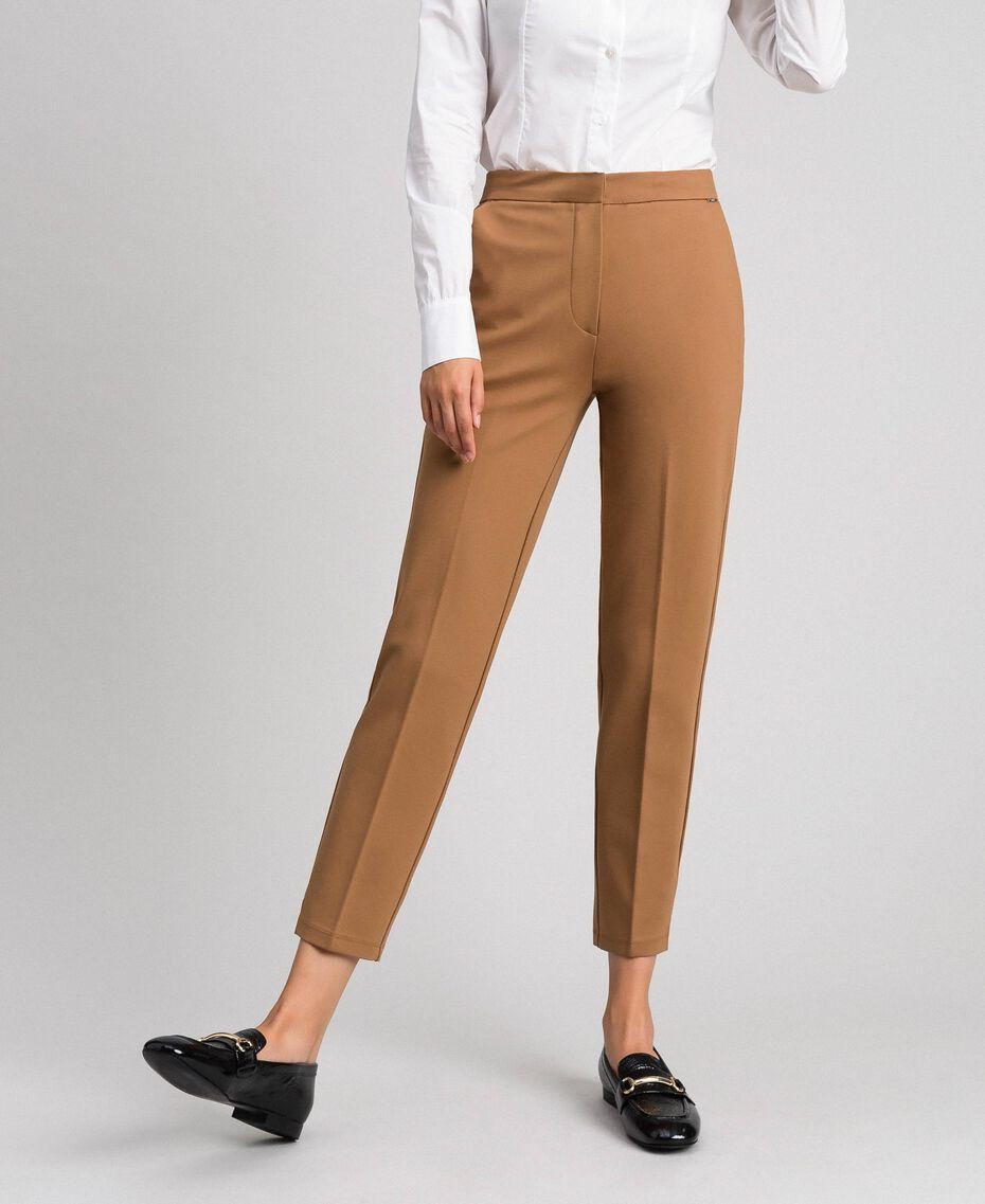 Pantalon cigarette avec poches Beige «Séquoia» Femme 192ST2134-02