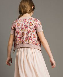 Cardigan-maglia in lurex a fiori Stampa Fiorellini Bambina 191GJ3050-03