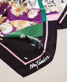 Foulard avec imprimé floral Imprimé Foulard Noir Femme 201MA4303-02