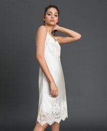 Unterkleid aus Satin mit Spitze Cremefarben Frau 192LI21NN-02