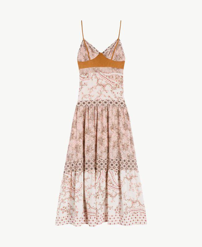 Long printed dress Vegas Pink Patch Print Woman BS8AMM-01