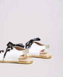 Sandalen mit Markenschnürung Weiß Kind 191GCJ012-03