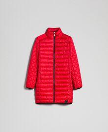 Piumino lungo ultraleggero Rosso Papavero Donna 192MP2101-0S